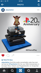 Playstation corporate cake