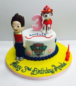 Marshal and Ryder Paw Patrol birthday cake