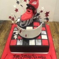 Rita Ora birthday cake 70s disco cake