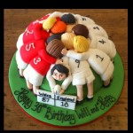Rugby Scrum Birthday Cake