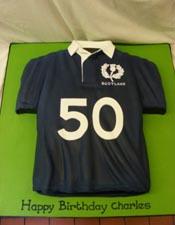 Scotland rugby shirt cake