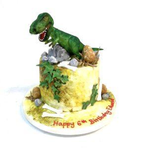 Scary dinosaur Birthday Cake