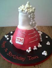 Science themed birthday cake