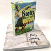Scotts Porage Oats themed cake