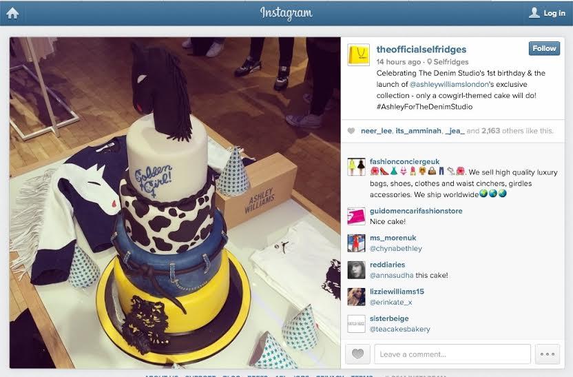Happy 1st Birthday To The Selfridges Denim Department Cakes By Robin - Selfridges Wedding Cakes