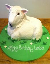 3D sheep birthday cake