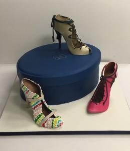 Corporate shoe brand cake