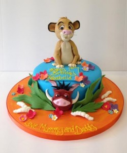 Simba Lion King birthday cake
