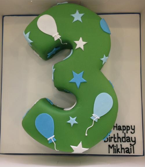 Simple number birthday cake