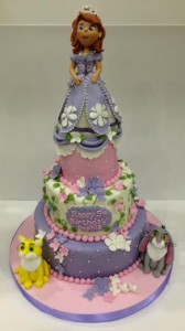Sophia the First Birthday cake tiered cake