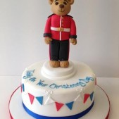 Soldier christening cake