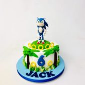 Sonic the Hedgehog – 6th birthday cake