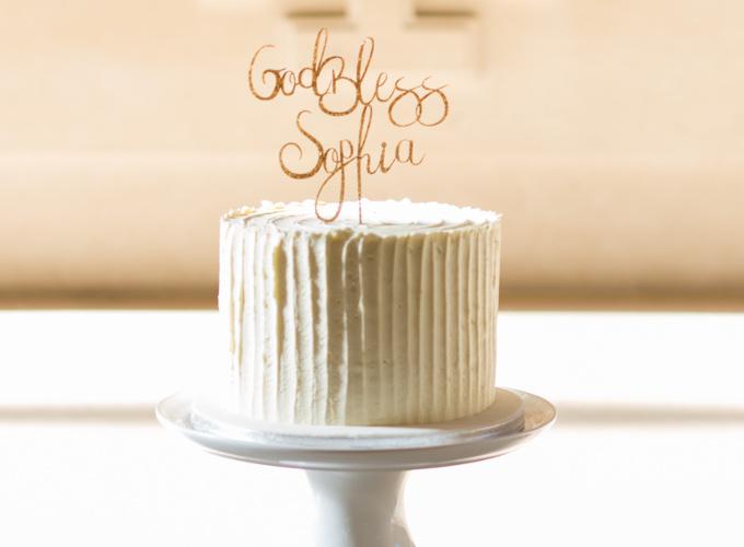 Sophia's Baptism cakes image 2