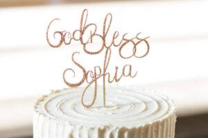 Sophia's Baptism cakes image