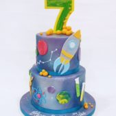 Space Rocked 7th Birthday Cake