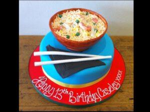 Special Fried Rice birthday cake