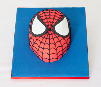 Spiderman head cake