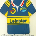 Leinster rugby shirt themed birthday cake