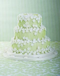 Spring blossom wedding cake