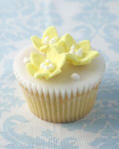 spring blossom wedding cupcake