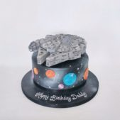 Star Wars Millennium Falcon themed cake