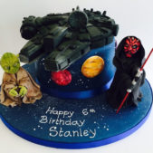 Star Wars themed birthday cake image