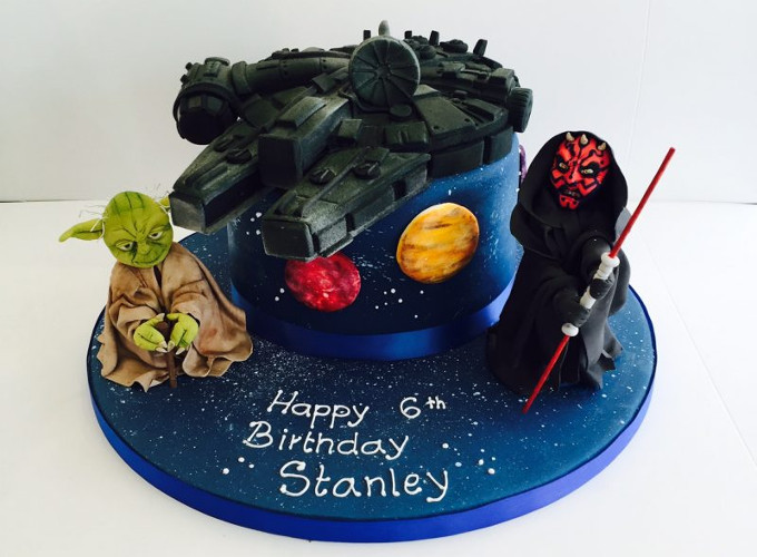 Star Wars themed birthday cake image