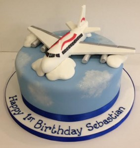 Sugar model Plane birthday cake