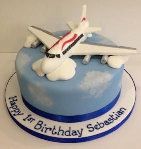 Sugar model of a plane birthday cake