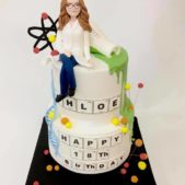 Sugar model science cake