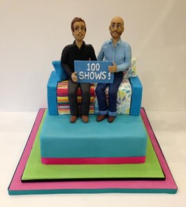 Sunday brunch presenters anniversary cake