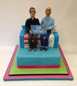 Sunday brunch presenters anniversary cake