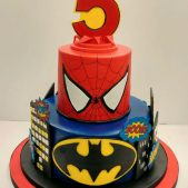Awe Inspiring Superhero Birthday Cakes Cakes By Robin Personalised Birthday Cards Veneteletsinfo