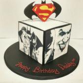Superman Cube Cake