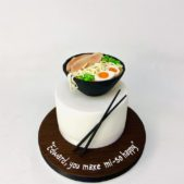 Sushi Miso Soup themed cake