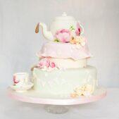 Tea pot vintage cake
