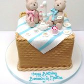 Teddy 1st Birthday Cake