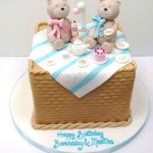 Teddy 1st Birthday Cake