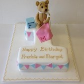 Teddy bear number 1 cake