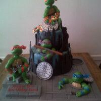 Teenage Mutant Ninja turtle birthday cake