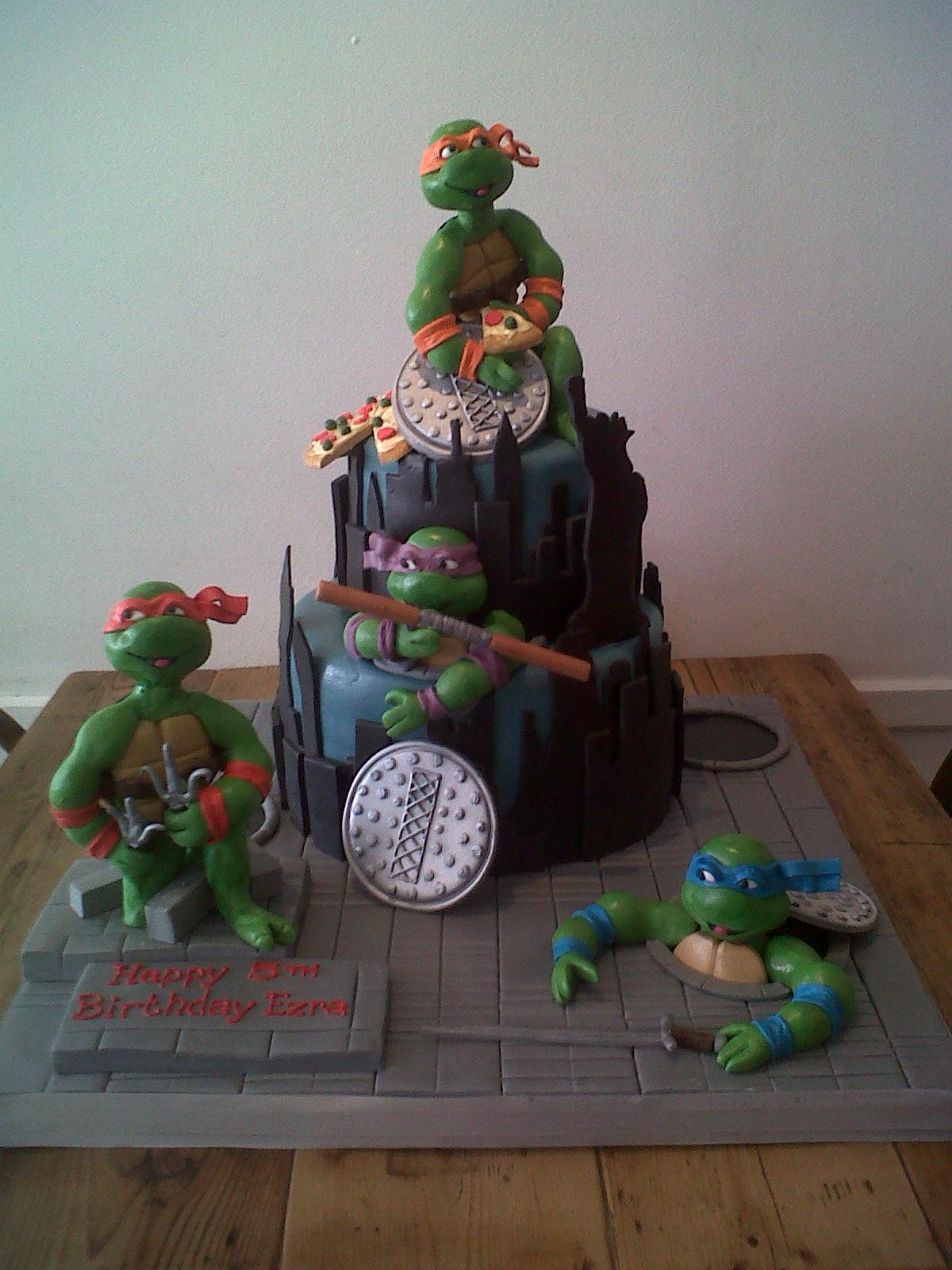 Astounding Teenage Mutant Ninja Turtle Cakes Cakes By Robin Funny Birthday Cards Online Bapapcheapnameinfo
