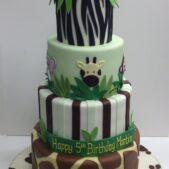 Tiered jungle cake