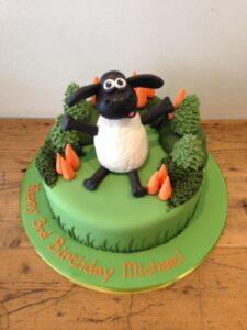 Timmy Time sheep birthday cake