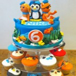 Octonauts birthday cake and cupcakes