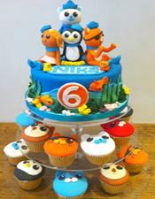 Octonauts birthday cake and cupcakes