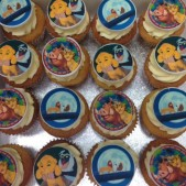 Lion King transfer image cakes
