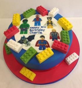 Lego cake transfer image