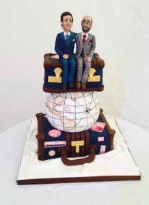 Travelling the world wedding cake