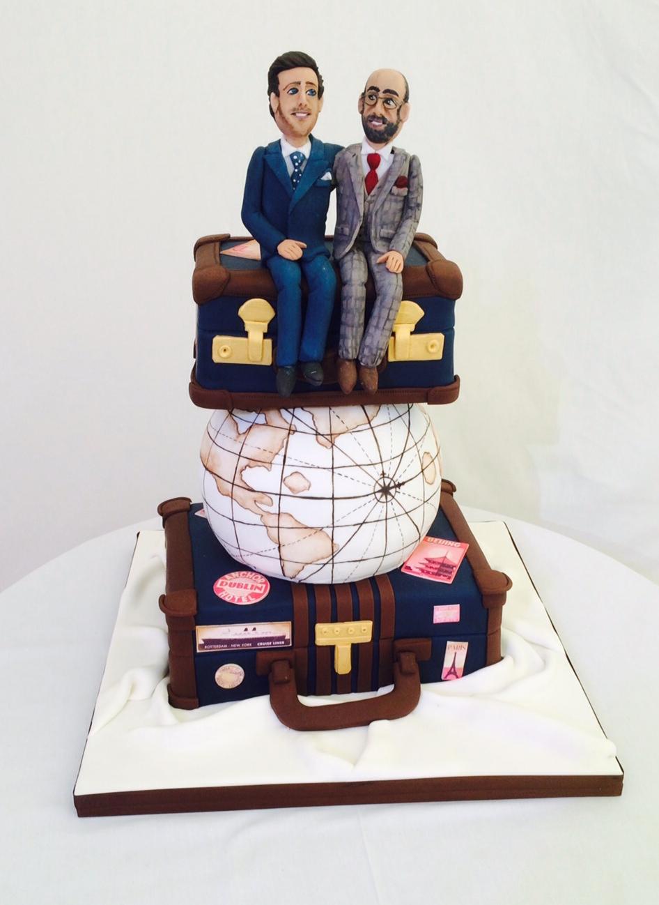Travelling the world wedding cake