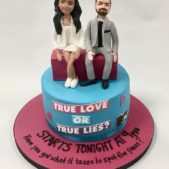 True Love or True Lies cake image